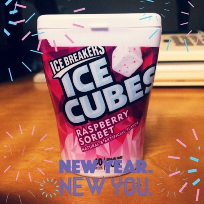 Ice Breakers Ice Cubes Raspberry Sorbet Sugar Free Gum - 40 CT uploaded by Katie H.