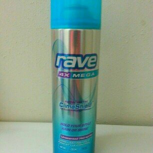 Rave 4X Mega Unscented Hairspray With ClimaShield uploaded by Madison L.
