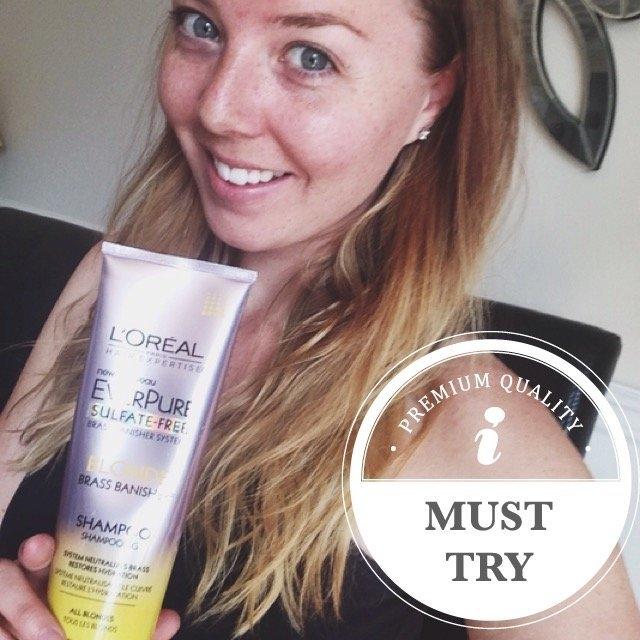 L'Oréal® Paris Hair Expertise™ EverPure Sulfate-Free Blonde Brass Banisher™ Shampoo 8.5 fl. oz. Tube uploaded by Melissa B.