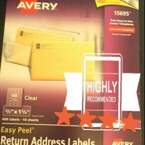 Avery Easy Peel Clear Mailing Labels - SP Richards uploaded by Rachel C.
