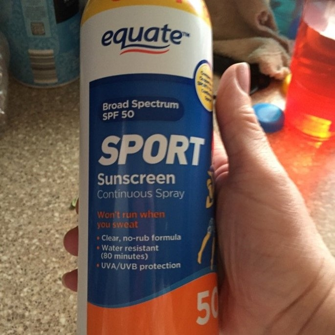 Equate Sport Continuous Spray Sunscreen, SPF 50, 10 fl oz uploaded by dee f.