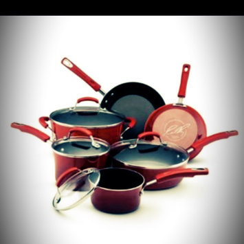 Rachael Ray 10 piece Red Porcelain Cookware Set uploaded by Danielle W.