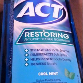 Photo of ACT Restoring Anticavity Fluoride Mouthwash Mint uploaded by Danielle R.