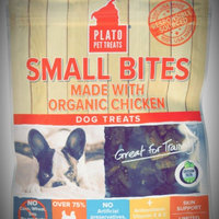Plato Small Bites Organic Chicken Dog Treats uploaded by Adrienne M.