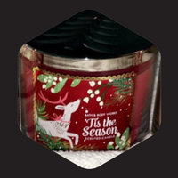 Bath & Body Works 1 X Bath and Body Works Tis the Season 3 Wick 14.5 Oz Candle New for 2014 uploaded by R Z.