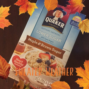 Photo of Quaker® Lower Sugar Instant Oatmeal Maple And Brown Sugar uploaded by Julie N.