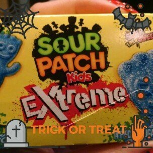 Sour Patch Kids Extreme Sugar Free Gum, Blue Raspberry