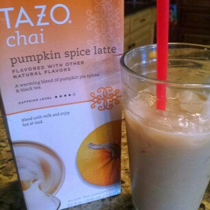 Photo of Tazo Black Tea Concentrate Pumpkin Spice Chai Latte uploaded by Stephanie M.
