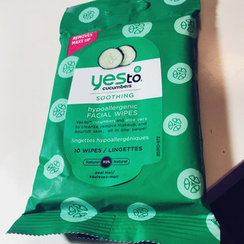 Photo of Yes To Cucumbers Shooting Hypoallergenic Facial Wipes uploaded by Tina H.
