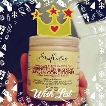 SheaMoisture Strengthen, Grow & Restore Leave-In Conditioner, Jamaican Black Castor Oil, 16 oz uploaded by Debra R.