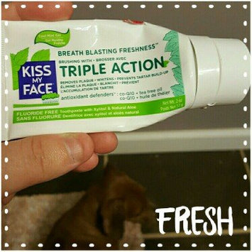 Photo of Kiss My Face Triple Action Fluoride-Free Natural Aloe Toothpaste Gel with Xylitol, Cool Mint, 4.5 oz uploaded by Emma W.
