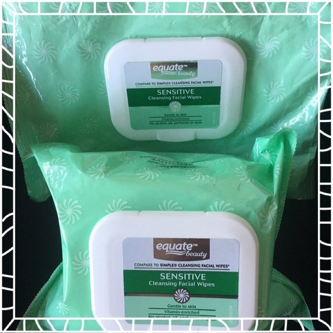 Equate sensitive skin facial wipes uploaded by Briana J.