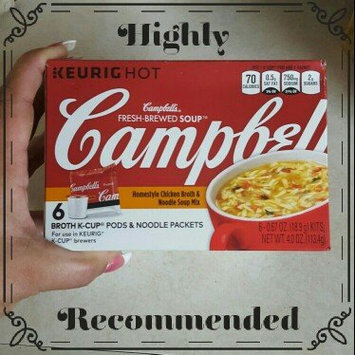Photo of Campbell's® Fresh-Brewed Soup Homestyle Chicken Broth & Noodle Soup Mix Coffee Podss uploaded by Nicole L.
