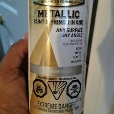 Photo of Rust-Oleum 11-oz Metallic Silver Spray Paint 1915830 uploaded by Melva B.