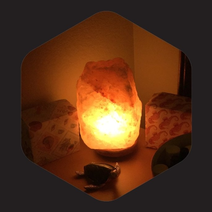 WBM # 1004 Natural Air Purifying Himalayan Salt Lamp With Neem Wood uploaded by Lori D.