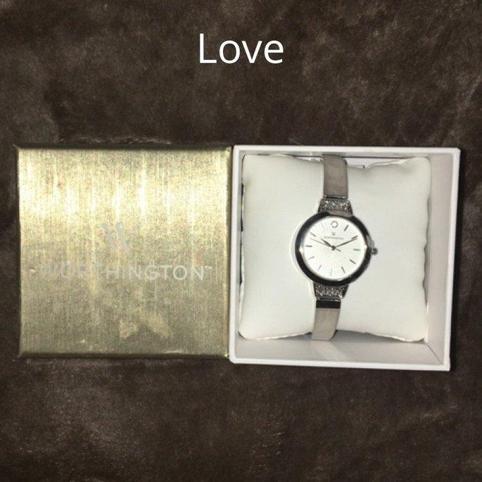 Worthington Womens Silver Tone Crystal Accent Bracelet Watch uploaded by Kady S.