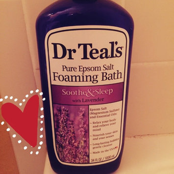 Dr. Teal's Foaming Bath, Soothe & Sleep with Lavender 34 fl oz uploaded by Carli S.