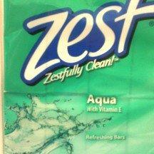 Zest Family Deodorant Soap Bars 8 Pack Aqua