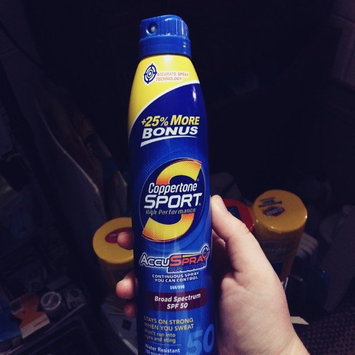 Photo of Coppertone® Sport® Broad Spectrum SPF 50 Sunscreen Spray 9.5 fl. oz. Aerosol Can uploaded by Kayla Q.
