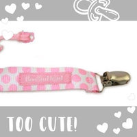 Booginhead PaciGrip Pacifier Holder, Delicate Dot Pink uploaded by Nicole S.