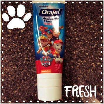 Photo of Orajel Bubble Guppies Anticavity Fluoride Toothpaste, 2+ Years, Fin-tastic Fruit, 4.2 oz uploaded by Jennifer H.