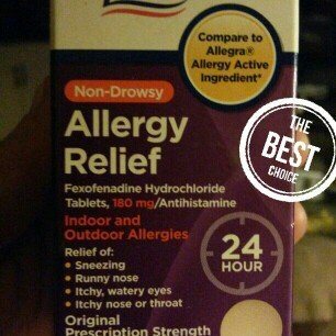 Photo of Equate Indoor And Outdoor Allergies Fexofenadine HCL Antihistamine 180mg, 30ct uploaded by Jennifer F.
