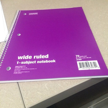 Staples 1 Subject Spiral Notebook, Wide Rule, Assorted Colors (Pack of 10) uploaded by Anushree P.