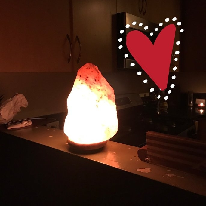 WBM # 1004 Natural Air Purifying Himalayan Salt Lamp With Neem Wood uploaded by Maria V.