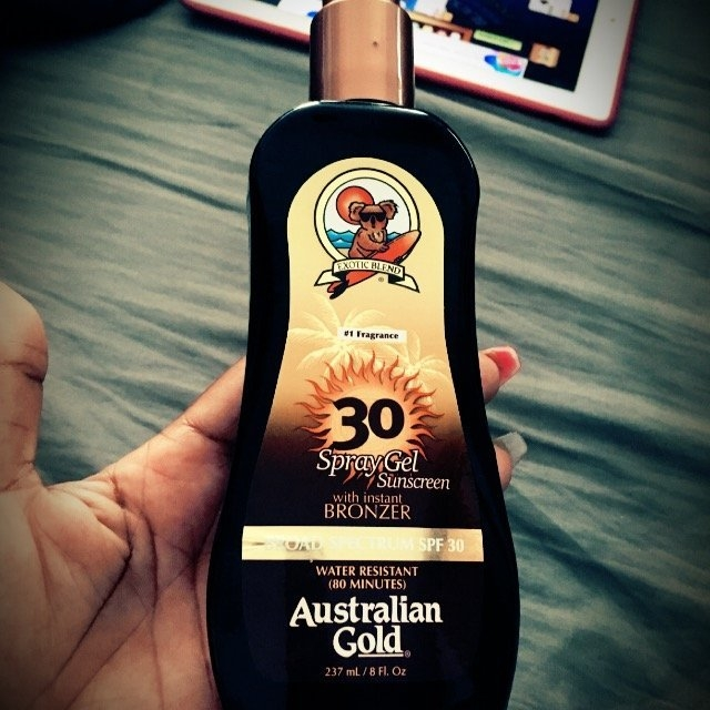Australian Gold Spray Gel with Instant Bronzer SPF 30 uploaded by N B.