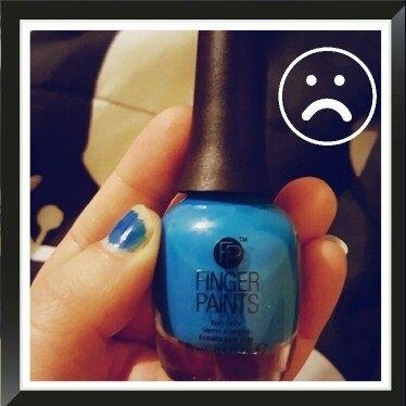 FingerPaints Nail Color Inkblot Blue Neon uploaded by Ashley C.