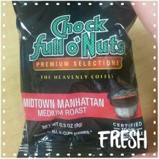 Photo of Chock Full o'Nuts Medium Roast Coffee Midtown Manhattan Single Serve Cups uploaded by Couponlady C.