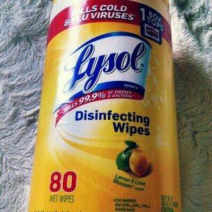 Lysol Disinfecting Wipes - Lemon uploaded by Jennifer V.