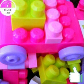 Photo of Mega Bloks First Builders Big Building Bag Pink - 80 pieces uploaded by Allison D.