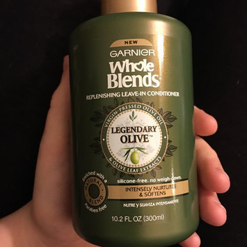 Photo of Garnier Whole Blends™ Replenishing Leave-in Conditioner with Virgin Pressed Olive Oil & Olive Leaf Extracts uploaded by Gina F.