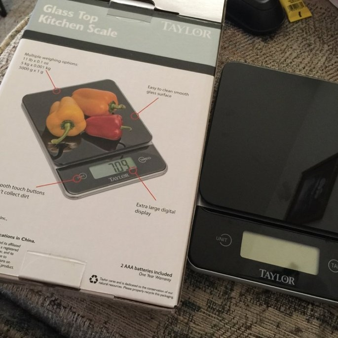Taylor Digital 11lb Glass Top Food Scale - Black uploaded by Wendy C.