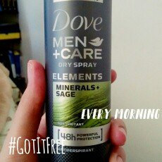 Photo of Dove Men+Care Elements Minerals and Sage Dry Spray uploaded by Mariangel C.