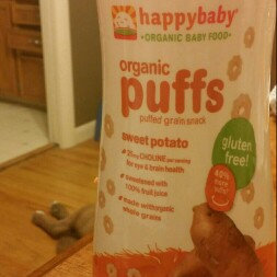Photo of HappyBaby Organic Gluten Free Finger Food for Babies Sweet Potato Puffs uploaded by Kelsey S.