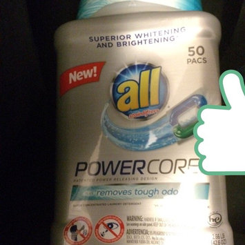 Photo of All® with Stainlifters Plus Removes Tough Odors PowerCore™ Pacs Super Concentrated Laundry Detergent 50 ct Bag uploaded by Charlotte I.