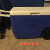 Coleman 56-Quart Wheeled Cooler, Blue uploaded by Naomi M.