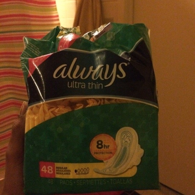 Always Ultra Thin Regular with Wings Unscented Pads 48 Count uploaded by Ariela S.