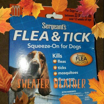 Photo of Sergeant's Flea and Tick Squeeze-On for Dogs - 33-66 lb uploaded by Faith D.