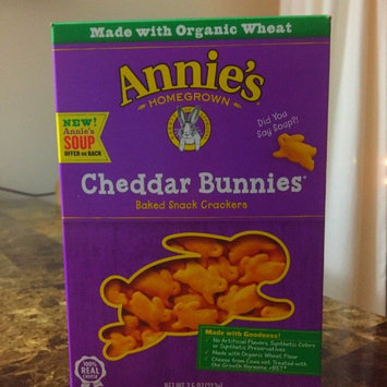 Annie's Homegrown® Organic Cheddar Bunnies® Baked Snack Crackers uploaded by Katy C.