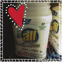 all® free clear mighty pacs® Laundry Detergent 67 Loads 2.95 lb. Tub uploaded by Heather L.