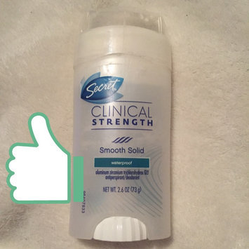 Photo of Secret Clinical Strength Smooth Solid Waterproof Antiperspirant/Deodorant uploaded by Andrea B.