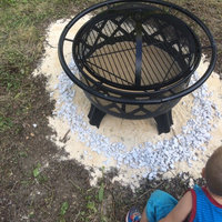 Hampton Bay Outdoor Fire Pits Crossfire 29.50 in. Steel Fire Pit with Cooking Grate High Heat Paint 25915 uploaded by Crystal W.