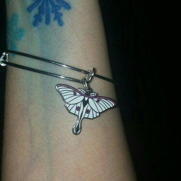 Photo of Women's Alex and Ani 'Luna' Expandable Moth Charm Bracelet - Silver uploaded by Anya G.