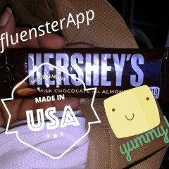Hershey's  Milk Chocolate with Almonds uploaded by CVT/ Ligia R.