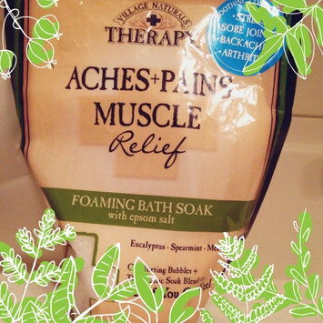 Photo of Village Naturals Therapy Aches+Pains Muscle Relief Foaming Bath Soak with Epsom Salt, 36 oz uploaded by Claire C.