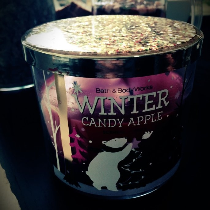 Bath & Body Works 1 X Bath and Body Works Winter Candy Apple 3 Wick Scented Candle 14.5 Oz. 2014 Edition uploaded by Anna g.