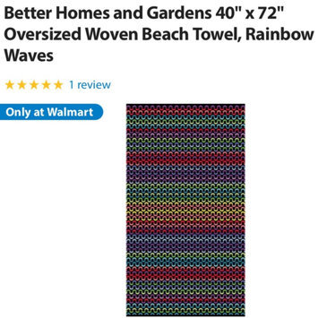 Photo of Better Homes and Gardens Oversized 40x72 Beach Towel - Suzani Blue uploaded by Tara P.